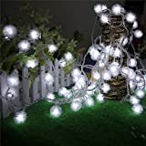 Nufelans Christmas 2.5M 20 LED Window Curtain Lights String Starry Fairy Lights String Lamp Decorative Lights for Party, Wedding (White)