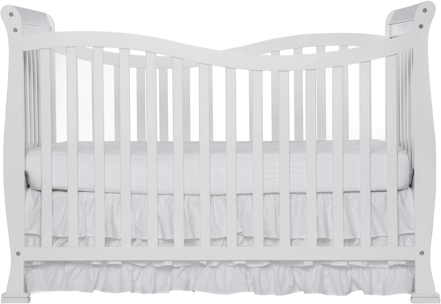VBARV Multifunctional Crib, Environmentally Friendly Solid Wood Crib, Large Size, Adjustable Gear, 7 in 1 Convertible Lifestyle Crib, Children's Bedroom Furniture