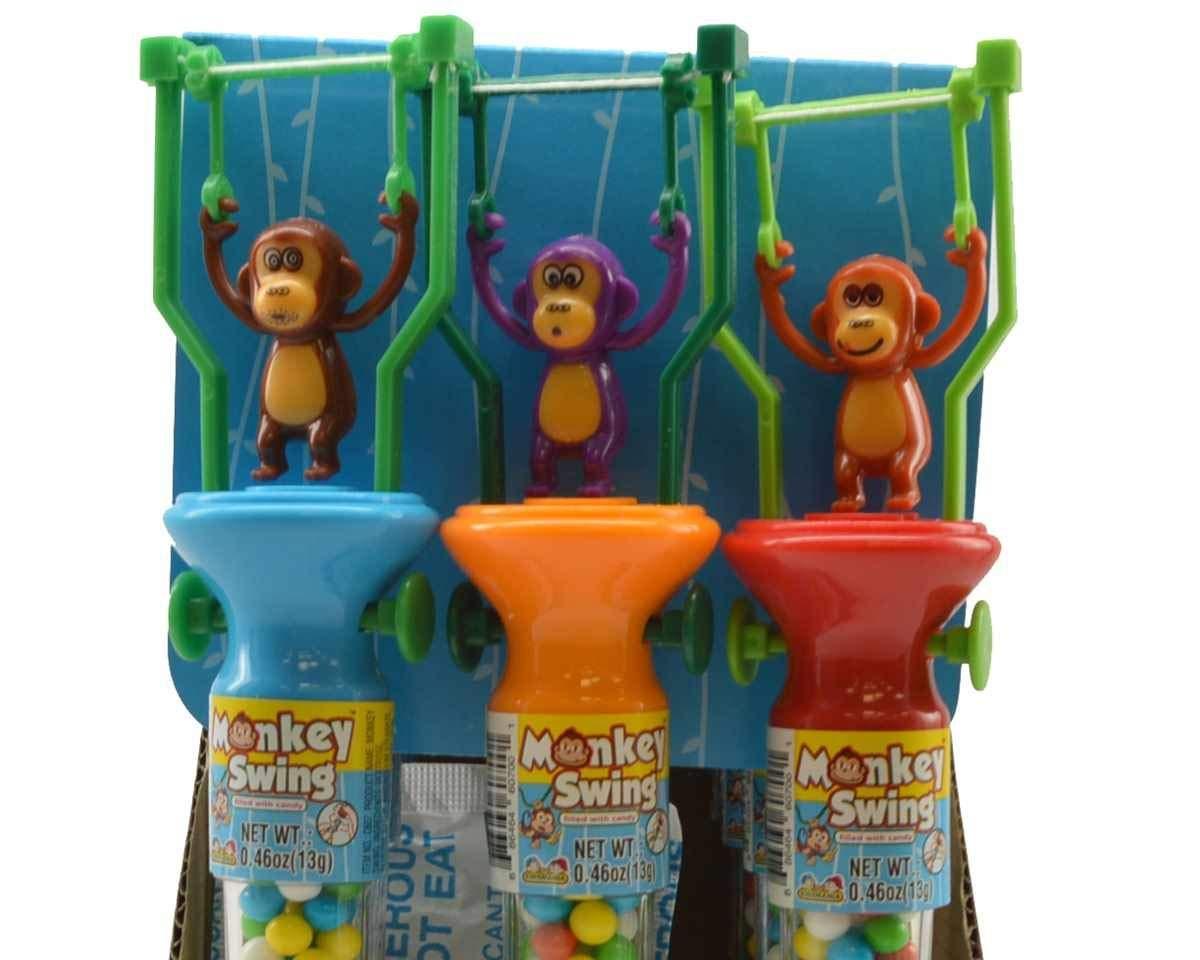 Kidsmania Monkey Swing Toys with Candy: 12-Piece Display Box by Kidsmania