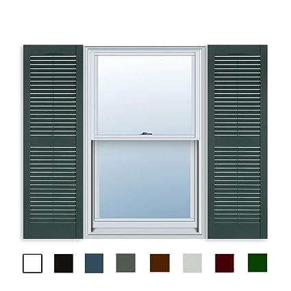 Amazon.com: 15 Inch x 67 Inch Standard Louver Exterior Vinyl Window ...