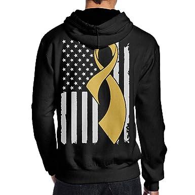 JHDKDGH-N Sarcoma Cancer Awareness Flag Back Print Long Sleeve Sweater for Man