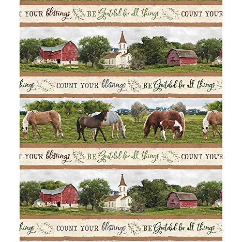 Repeating Stripe - Wilmington Prints Farmstead Multi Repeating Stripe