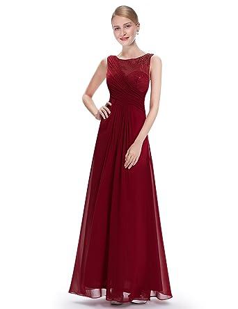 Ever Damen Kleid Gr42Rot Burgunderrot Pretty WBderoCx