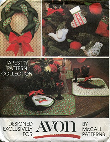 McCalls Pattern - Avon Tapestry Christmas Pattern Collection - Multiple Projects