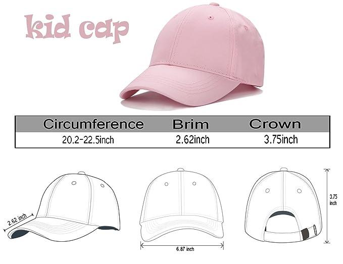 2beee98c Amazon.com: Edoneery Unisex Kids Plain Cotton Adjustable Low Profile  Baseball Cap Hat(Pink): Clothing