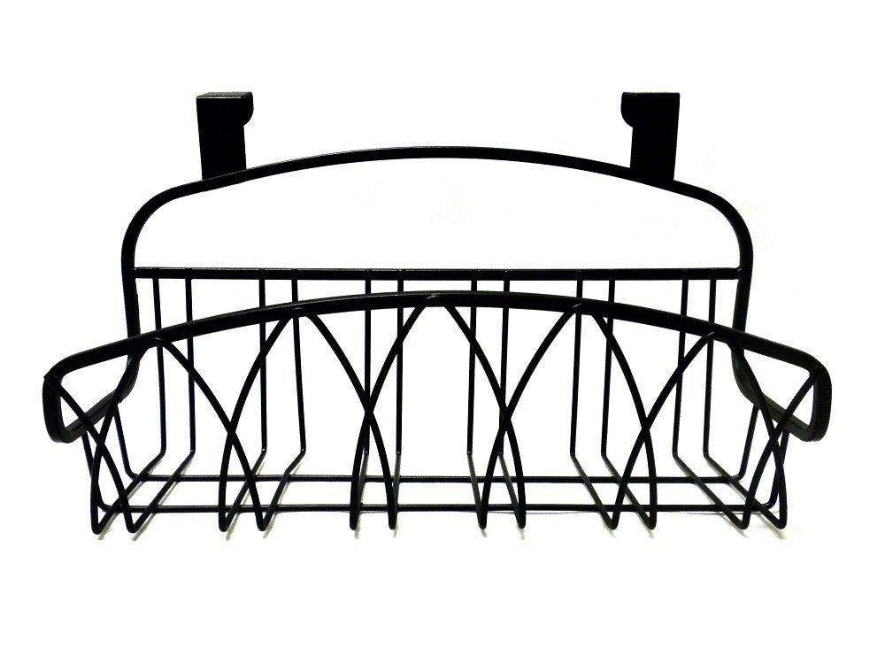 Spectrum Diversified Twist Storage Basket, Over the Cabinet Door, Small, Black