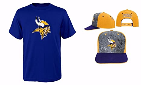 hot sale online 11285 4db77 Outerstuff Minnesota Vikings NFL Youth Size Performance T-Shirt with Cap Set