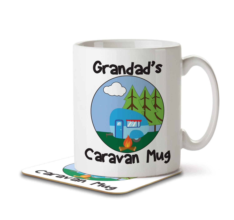 Grandad's Caravan Mug - Mug and Coaster By Inky Penguin The Inky Penguin