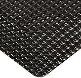 Rhino Mats RFLX310DSGB Reflex Anti Fatigue Mat, 3' Width x 10' Length x 1'' Thickness, Glossy Black