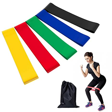 KAIHONG Bande Elastique Fitness, Bandes Élastiques de Résistance 5 Pcs  Équipement d Exercices pour 1f4619f1c03