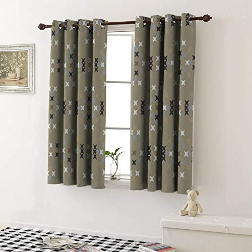Linhomedecor Curtain Darkening Blackout Grommets Darkening Darkening Curtains Indoor Darkening Curtains Family Darkening Curtains Room Darkening Curtains 2 Pieces