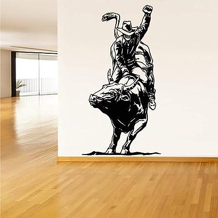 Handaxian Pegatinas Calcomanía de Vinilo Corrida de toros España Vaquero Toro Jinetes Decoración Tribal Decoración Maison Adhesivo adesivi 55 * 103 cm: Amazon.es: Hogar