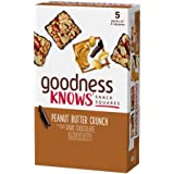 goodnessknows Peanut Butter Crunch & Dark Chocolate Gluten Free Snack Square Bars, 5 Ct