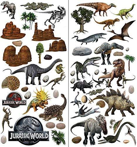 Stickers muraux dinosaures pour chambre ? coucher gar?ons et filles Salon Autocollant Jurassic World Dinosaures Stickers muraux T Rex Art D?coration murale pour Dino Stickers muraux papier peint mural 3d???Extra Large 73?cm x 76?cm (71, 1?x 73, 7?cm)