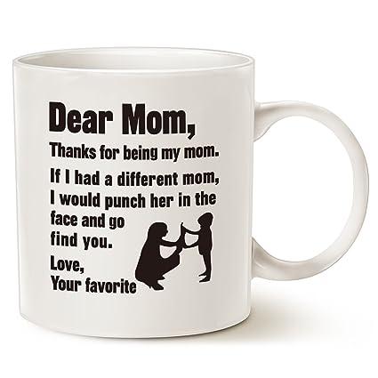 mauag funny christmas gifts for mom coffee mug dear mom thanks for being my