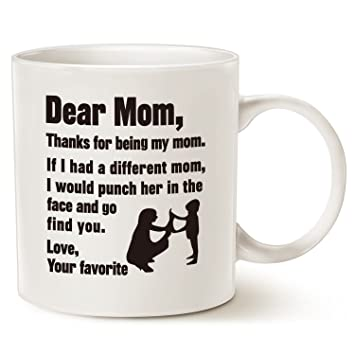 mauag funny christmas gifts for mom coffee mug dear mom thanks for being my
