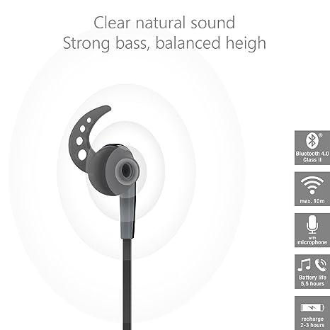 Vivanco Sport Air 4 Auriculares Deportivos Inalambricos Bluetooth, Manos Libres, hasta 6 Horas de Batería: Amazon.es: Electrónica