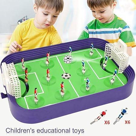 NMSLA Mesa de futbolín de Mesa para niños - Juego de Mesa de fútbol Compacto - Fútbol de