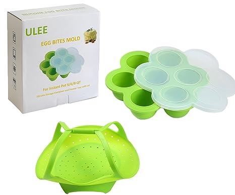 Amazon.com: ULee - Molde de silicona para magdalenas (12 ...