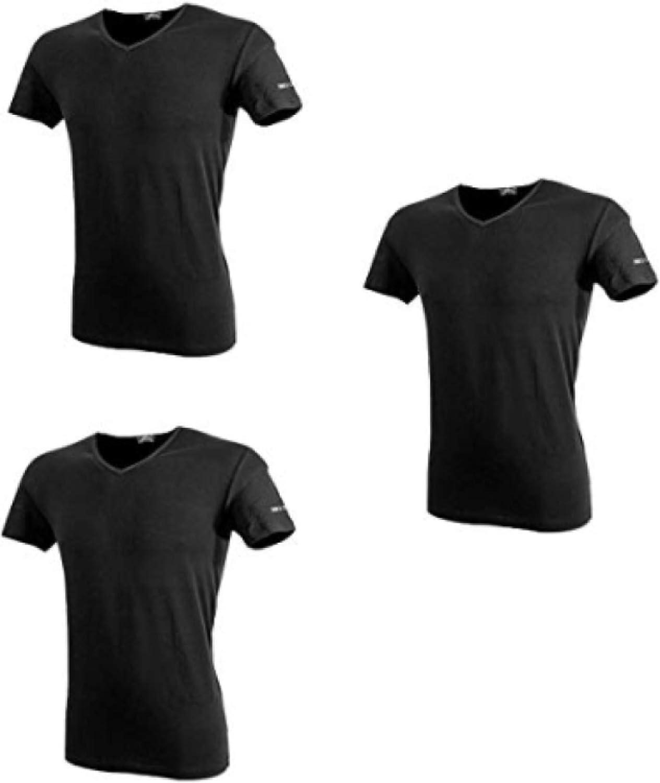 Underwear Maglietta Intima Uomo Cotone Bielastico Tshirt Scollo V Uomo Manica Corta Confezione 3 Pezzi Taglie S M L XL XXL Maglia Intima Uomo Ultraleggera Aderente Invisibile