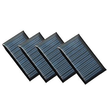 Juego de 4 Piezas NUZAMAS 5V 30mA 53X30mm Micro Mini Células de Panel Solar Para Energía de Energía Solar, Hogar DIY, Proyectos Científicos - Juguetes ...