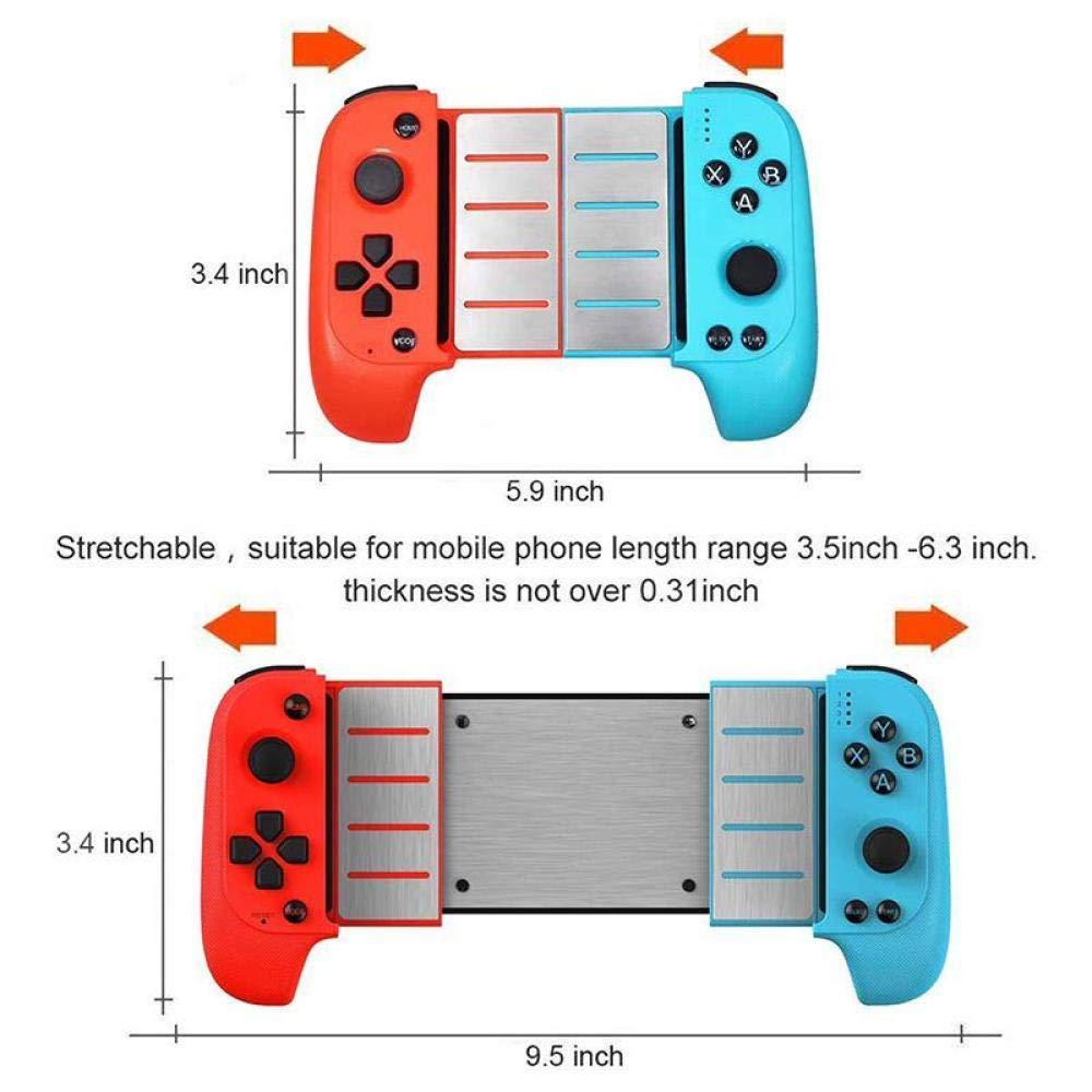 STHfficial Controlador De Juegos Bluetooth Inal/ámbrico Gamepad Telesc/ópico Palanca para Samsung Xiaomi Huawei Android Tel/éfono PC,A