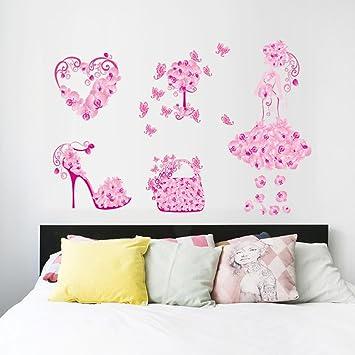 Amazon.com: Wall Sticker, Hatop New Butterfly Flower Fairy stickers ...