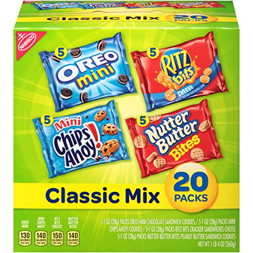Spooky Halloween Snack Mix (Nabisco Classic Mix Variety Pack with Cookies & Crackers, 20 Count Box, 20 Ounce (Pack of)