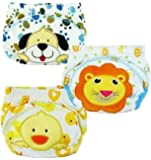 JZHY 3Pcs nette Baby-Kind-Kind-Training Pants waschbare Tuch-Windel-Windel-Unterw?sche