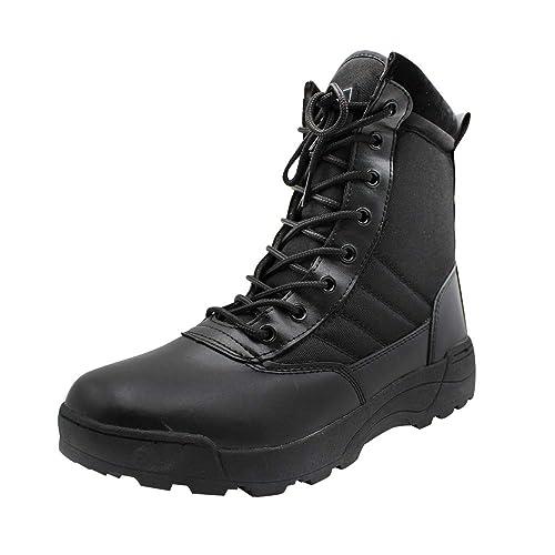 Yudesun Zapatos para Hombre Botas Militares Botines Desert - Nordic Walking Calzado de Trabajo Botas de Servicio Militar Tobillo Táctico Cuero Ejército Aire ...