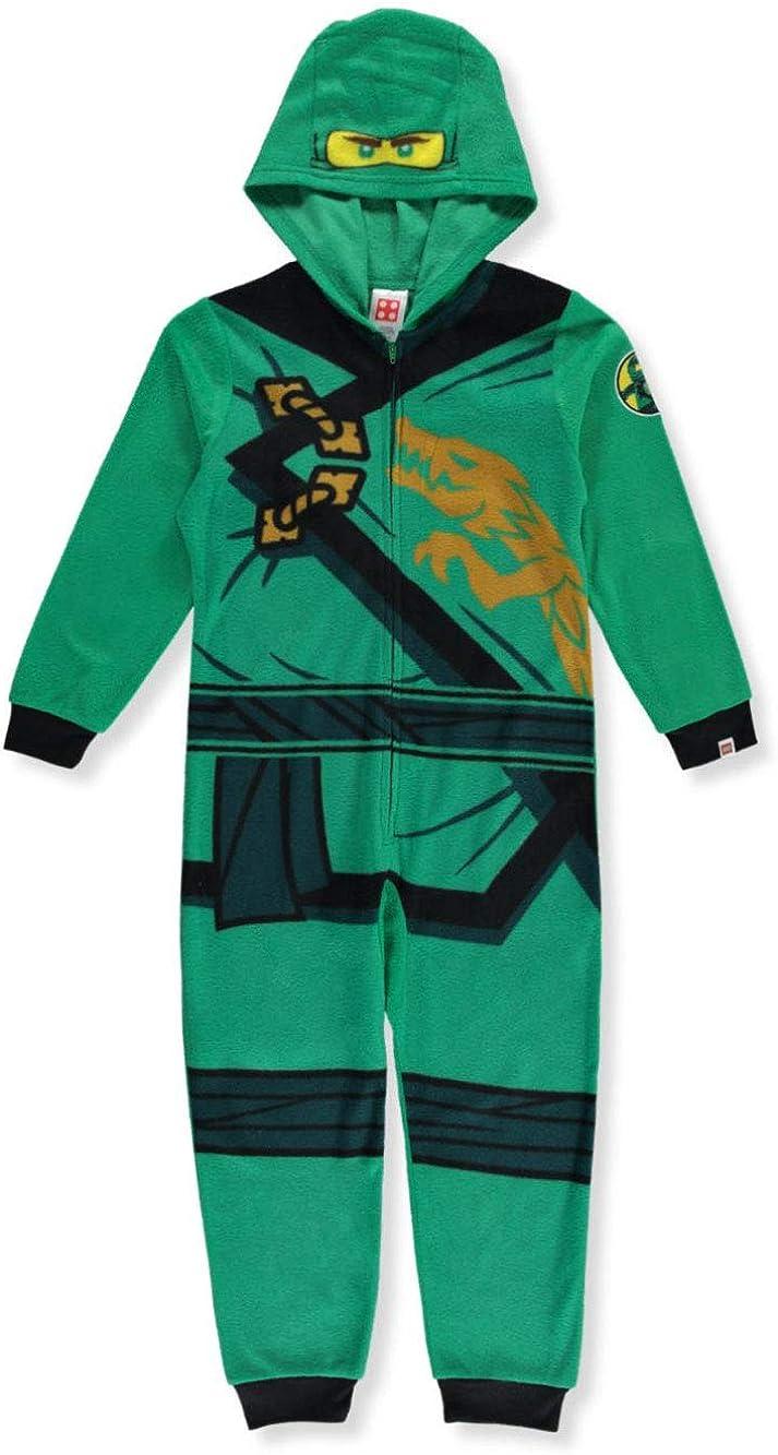 Lego Ninjago Little Boys' Green Hooded One-Piece Pajamas 4-5