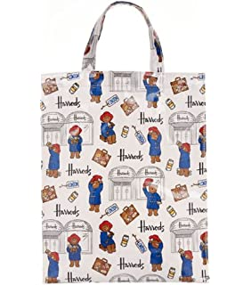 harrods Medium Paddington Bear Shopper Bag - Borsa a mano in PVC con  interno accoppiato in 977fa6ef05d