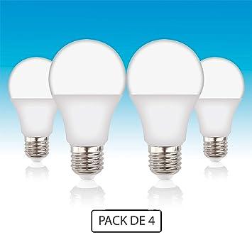 Volton - Pack 4 Bombillas Standard LED E27 14W 1521Lm 4000K Angulo 200º, no Regulable: Amazon.es: Hogar