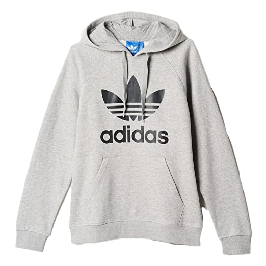 Adidas Men s Originals Trefoil Hoodie Medium Grey Heather ab8290 (Size ... fe58991b16