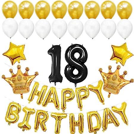 BESTOYARD 18 cumpleaños Decoraciones de Globos Suministros ...