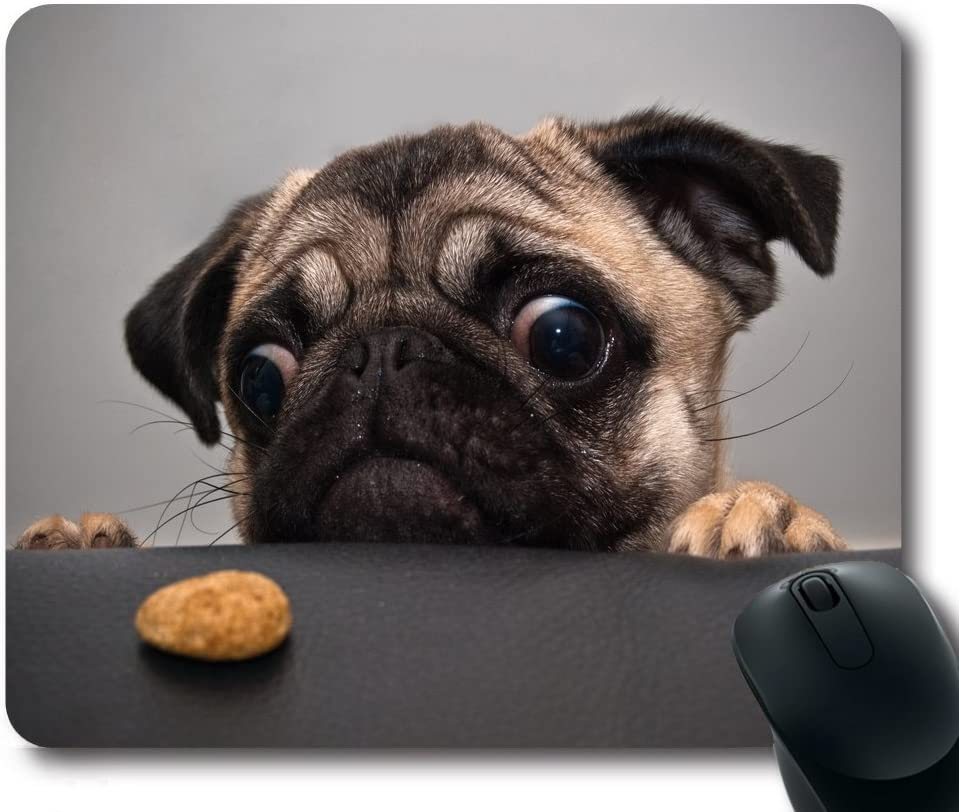 VIKKO Dog Puppy Grass Non-Slip Rubber Mousepad Rectangle Gaming Mouse Pad 9.8 X 7.4 Inch