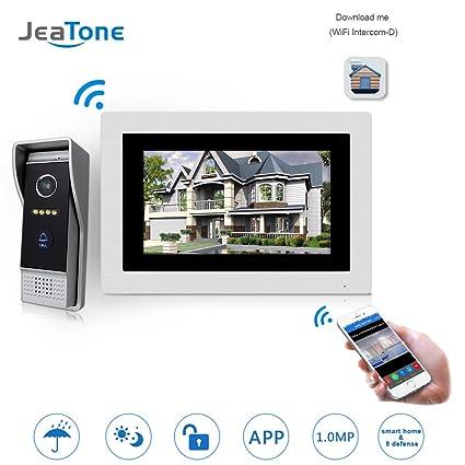 Amazon Jeatone 7 Inch Wirelesswired Wifi Ip Video Door Phone