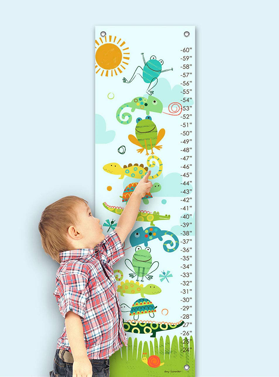 12 by 42-Inch Oopsy Daisy Crawly Critters by Amy Schimler Safford Growth Charts
