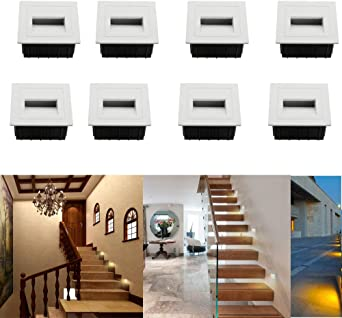 SUBOSI - Luz LED para escaleras, Aluminio, 230 V, 3 W, Cristal ...