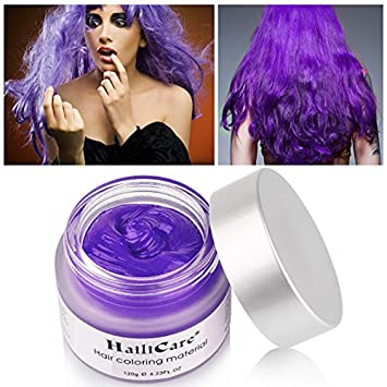 HailiCare Unicorn Purple Hair Wax 4 23 oz, Hair Pomades, Dye Hair Wax,  Natural Matte Hairstyle Max for