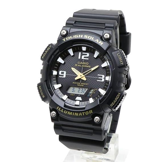 Casio Aq-S810W-1B / Aqs810W-1B resistente Solar analógico y Digital de los hombres de negro/reloj Unisex: Amazon.es: Relojes