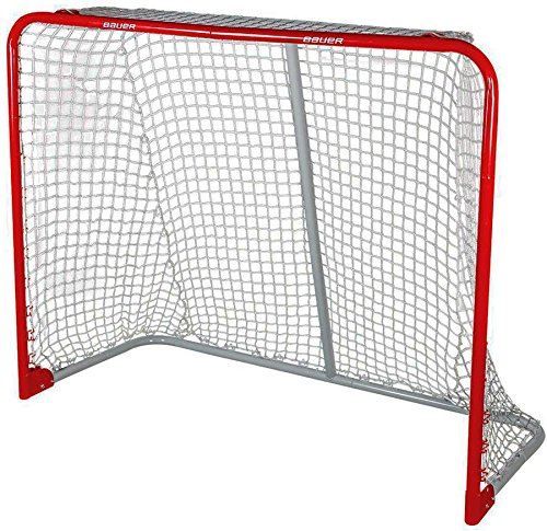 BAUER Performance folding Steel Goal 54' (137x112x61cm) 54 x 44-Inch Red Bauer Performance Sports 1046699