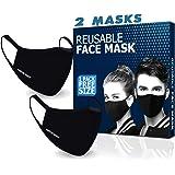 BRITISH BASICS - 2 Masks - Branded Reusable Cotton Face Mask. Unisex Washable mouth cover for Men & Woman. Anti Dust…