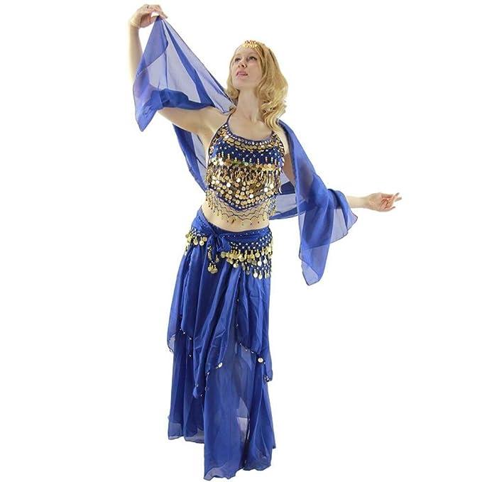 Amazon.com: danzcue Danza del Vientre disfraz 5-Piece Set ...