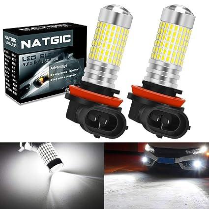 NATGIC H11 H9 H8 Bombillas de luz antiniebla LED Xenon White ...