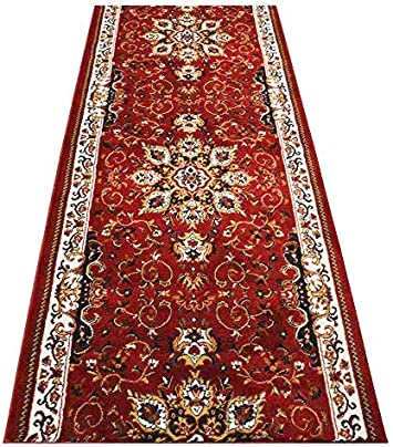 """FRENCH BLACK RUNNER 2X7 ORIENTAL AREA RUG PERSIAN 023 ACTUAL 1/' 9/"""" x 7/' 2/"""""""
