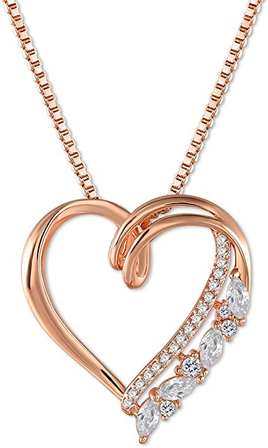 Heart Necklace Mother/'s day Gift Minimalist Necklace Rose Gold Heart Necklace Dainty Jewelry Eclectic Jewelry Minimalist Jewelry