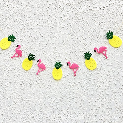 Tinksky Hawaii Themed Summer Party Banner Girls Room Decoration Happy Birthday Garland Banner Pennant Luau Party favors