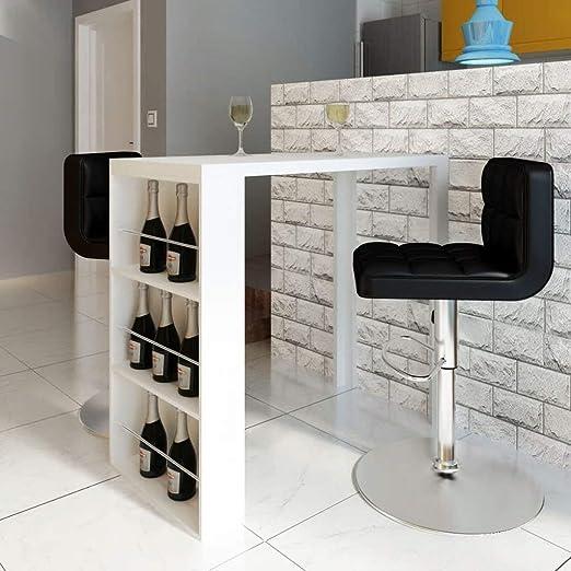 SZHSM - Mesa de Bar para Vino, Color Blanco Brillante, para café ...