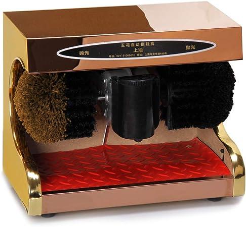 Pulidora de calzado Limpiador eléctrico de calzado, acero inoxidable automático de inducción betún Máquina for el polvo de pulido de eliminación, Kit de Limpieza de zapato de cuero Pulidora automática: Amazon.es: Hogar